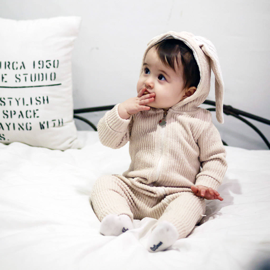 ae2350bc0f05 personalised bunny winter hooded jumpsuit by jj park ...