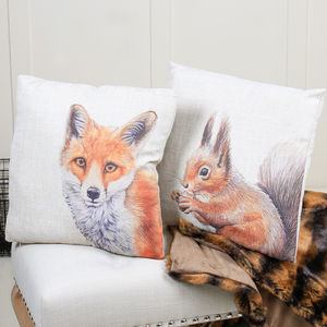 Set Of Two Woodland Scatter Cushions