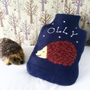Hedgehog Personalised Hot Water Bottle Cover Gift