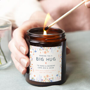 Big Hug Gift Personalised Candle