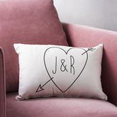Personalised Initials Cupid Cushion - home