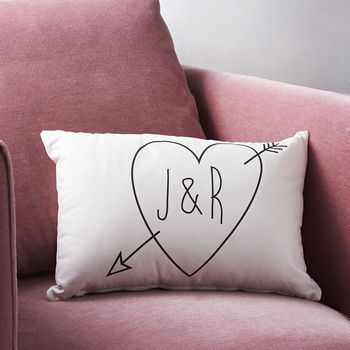 Personalised Initials Cupid Cushion