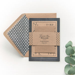 Chalkboard And Kraft Wedding Invitation