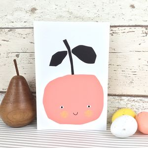 Pippi Apple Greeting Card