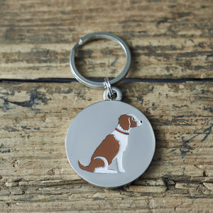 Springer Spaniel ID Dog Name Tag - pets sale