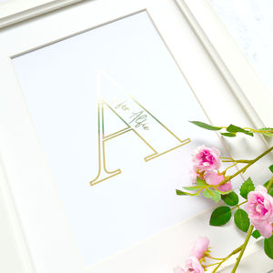 Alphabet Is For … Children's Personalised Foiled Print