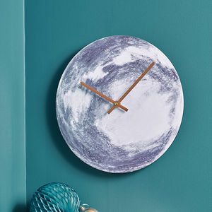 Moon Wall Clock - bedroom