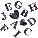 Liberty Print Tresco Iron On Letters, Numbers, Hearts
