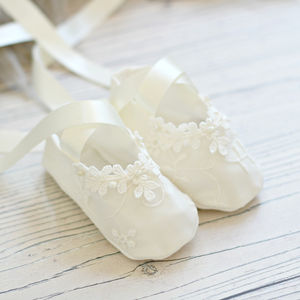 Ava Christening Booties - christening wear