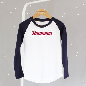 Personalised Kids Baseball Tee - clothing