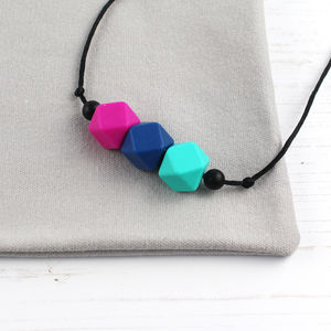 Geometric Silicone Teething Necklace - soothers