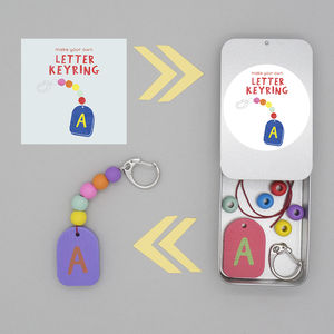 Personalised Letter Keyring Gift Tin - children's parties