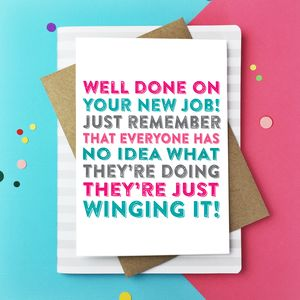 Well Done On Your New Job Greetings Card - shop by category