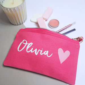 Personalised Pink Make Up Bag - make-up bags
