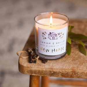 New Home Personalised Candle Gift