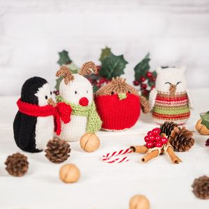 Christmas Festive Creatures Knitting Kit