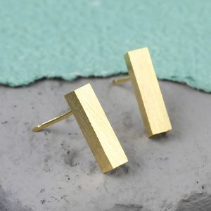 Bar Stud Earrings - jewellery sale