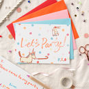 Six Unicorn Let's Party Invitations For Children