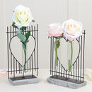 Anniversary Heart Fence Flower Display Vases