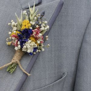 Festival Meadow Buttonhole Set Of Four - flowers, bouquets & button holes
