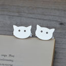 Personalised Cat Cufflinks In Sterling Silver