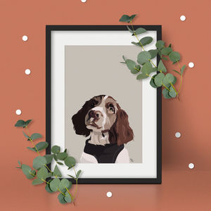 Personalised Pet Portrait Print - gifts for him