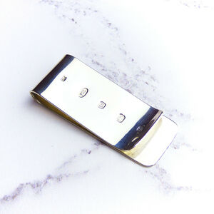 Personalised Sterling Silver Money Clip
