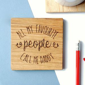 Personalised All My Favourite People Coaster - gifts for grandmas