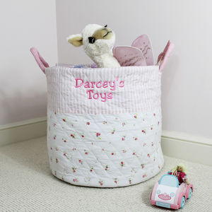 Personalised Girls Large Quilted Toy Bag