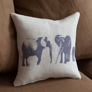 Elephant Family Mini Cushion - bedroom