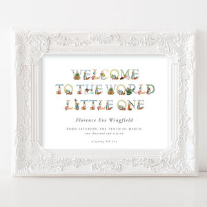 Beatrix Potter New Baby Print | Welcome To The World