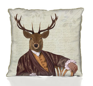 Illustrious Deer Decorative Cushion