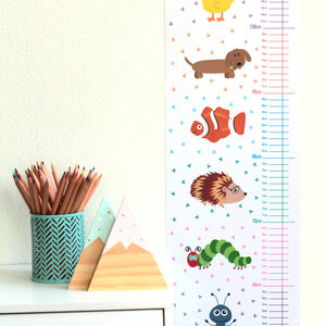 Animal Height Chart - children's room