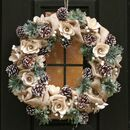 Country Natural Front Door Winter Wreath