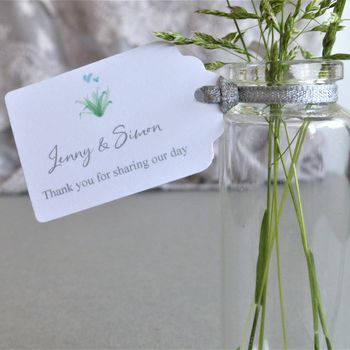 Personalised Botanical Wedding Favour Tags
