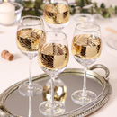 Luxury Gold Leaf Wine Glasses