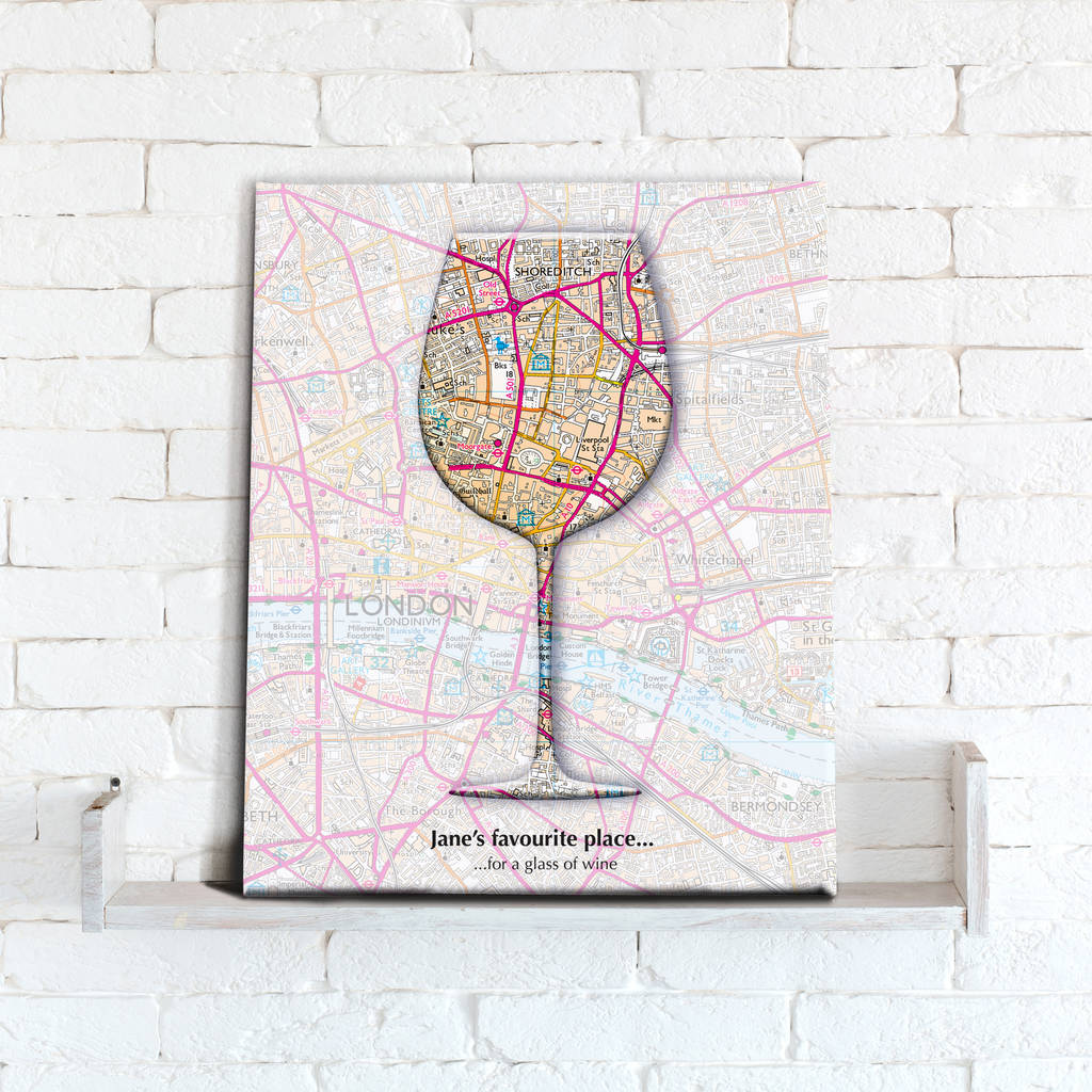 Personalised Wine Map Canvas Print