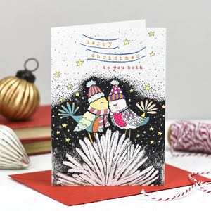 'To You Both' Christmas Card - winter sale