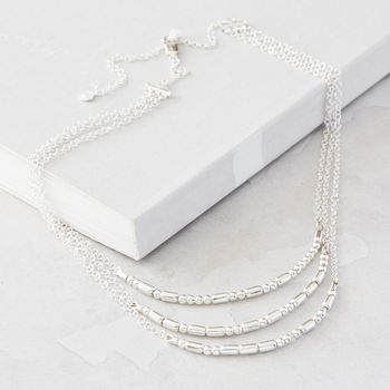 Personalised Silver Multi Morse Code Necklace