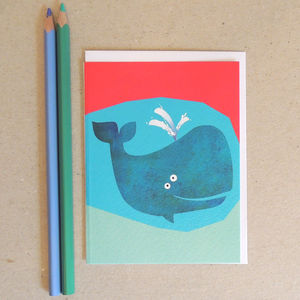 Blue Whale Greetings Card