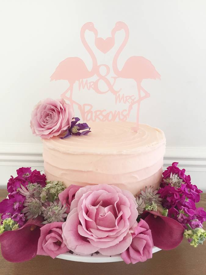 love birds monogram wedding cake topper by suzy q designs ...