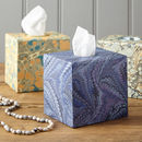 Tissue Box Marbled Print