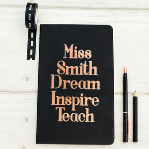 Personalised Teacher's Notebook - notebooks & journals