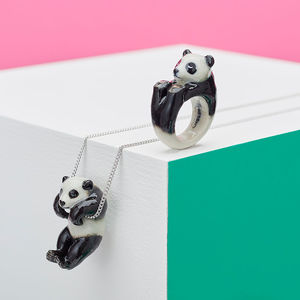 Hanging Panda Necklace