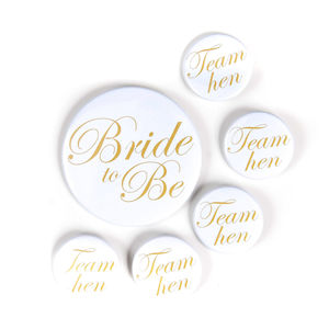 Hen Party Badge | Gold