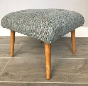 Retro Style Harris Tweed Footstool - footstools & pouffes