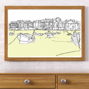 St Ives Beach, Signed Print