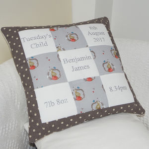 Benjamin Bunny© Memory Cushion - children's cushions