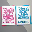You Are Awesome Personalised Birthday Card