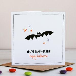 Bat Halloween Card